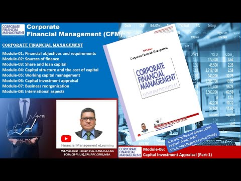 Corporate Financial Management(CFM)_Module-06_Capital Investment Appraisal(Part-1)_ARR, PBP, DPBP