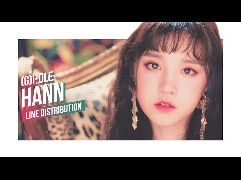 (G)I-DLE - HANN (Alone) Line Distribution (Color Coded) | (여자)아이들 - 한(一)