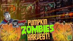 PUMPKIN HARVEST! WHAT ZOMBIE CARDS & PRO'S DID WE GET?! | WWE SuperCard