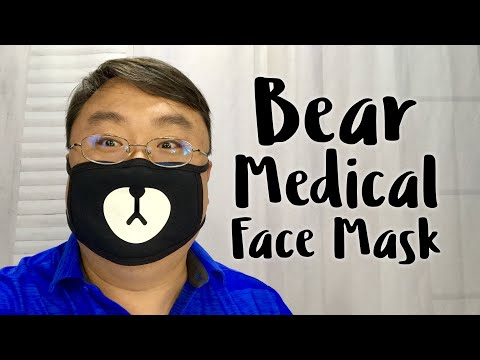 Cute Black Bear Anti-Dust Cotton Mouth Face Respirator Mask Review