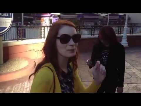 Walking the Vegas Strip with Felicia Day and Kim Evey