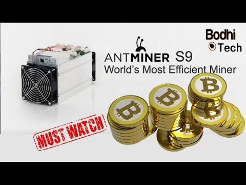 Bitmain AntMiner S9 Best Asic Miner for Bitcoin Miner - 13Th/s 13000Gh/s