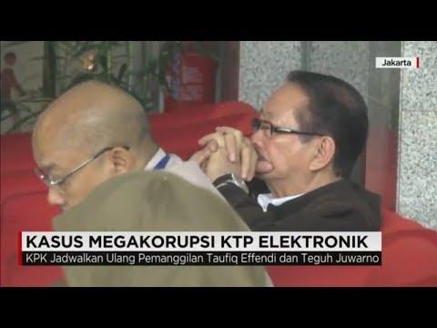 Kasus Megakorupsi KTP Elektronik - KPK Kembali Periksa Taufiq Effendi & Teguh Juwarno