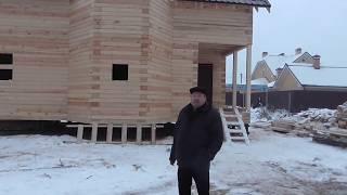 Дом из профилированного бруса с эркером