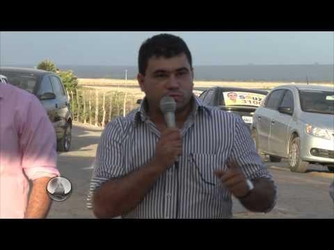 Cobertura da assinatura do prefeito Sandro Góis da ordem de serviço do matadouro Público de Areia branca