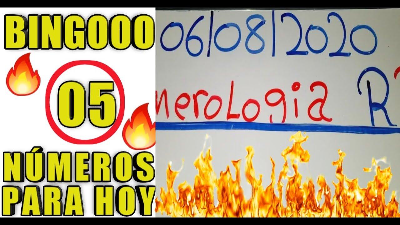 NÚMEROS PARA HOY 06/08/20 DE AGOSTO PARA TODAS LAS LOTERIA..!!!