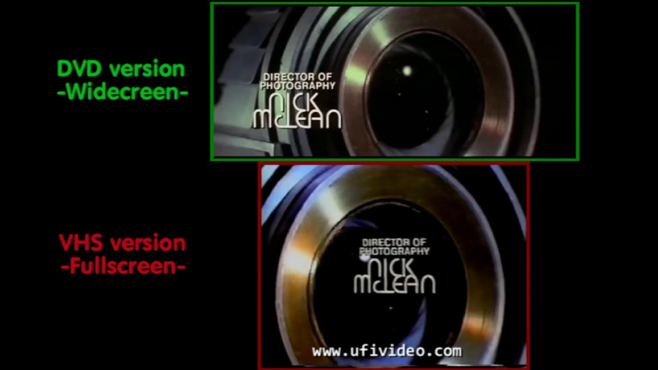 widescreen vs fullscreen dvd vhs cortocircuito short circuit youtube. Black Bedroom Furniture Sets. Home Design Ideas