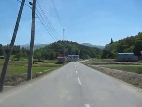 Driving in the countryside of Yamagata