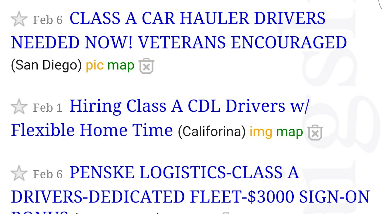 Craigslist Truck Driving Jobs Youtube