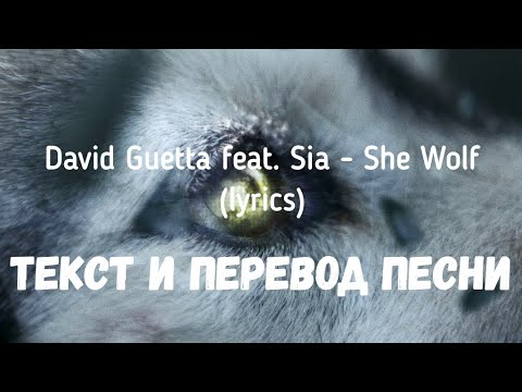 David Guetta Feat. Sia - She Wolf (lyrics текст и перевод песни)