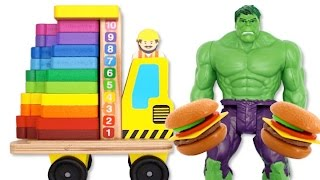 preschool toys teach colors and counting for kids fun learning with hulk slime toys