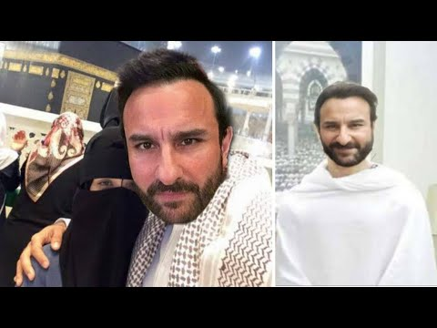 Bollywood actor Saif Ali Bollywood queen Kareena Kapoor husband wife Umrah Islam Prophet news