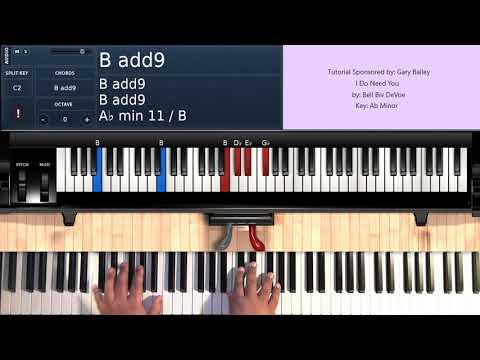 I Do Need You (by Bell Biv DeVoe) - Piano Tutorial