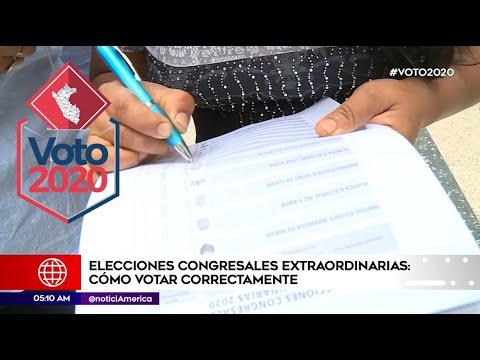 Voto 2020: Entérate Cómo Votar Correctamente En Las Elecciones Congresales Extraordinarias 2020