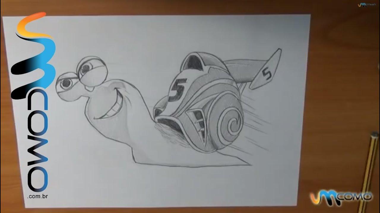 Como Desenhar O Caracol Turbo Youtube