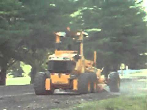 grading at the Skowhegan Area High School Entrance (8-3-2012)