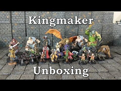 Unboxing Pathfinder Battles Kingmaker Miniatures Brick