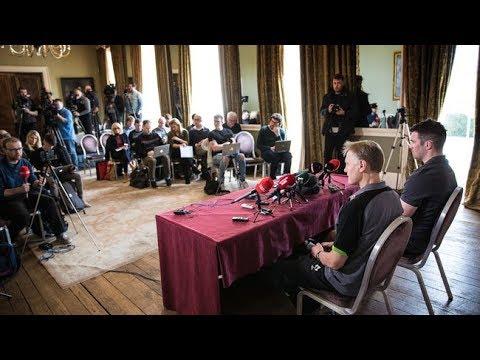 Irish Rugby TV: Ireland Team Press Conference - England