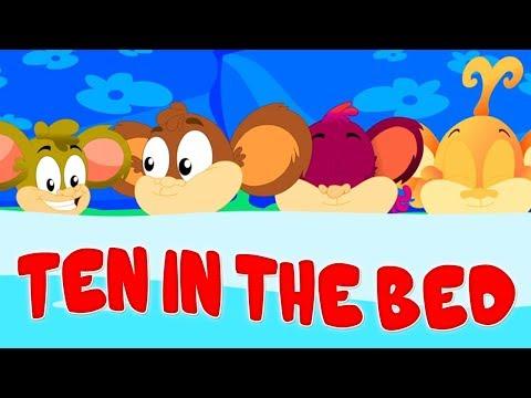 Ten in The Bed | Monkey Rhymes | Baby Songs And Kids Cartoons Videos