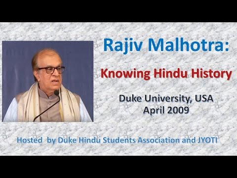 Knowing Hindu History: Rajiv Malhotra FULL Lecture, Duke University USA