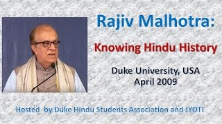 Cover images Knowing Hindu History: Rajiv Malhotra FULL Lecture, Duke University USA