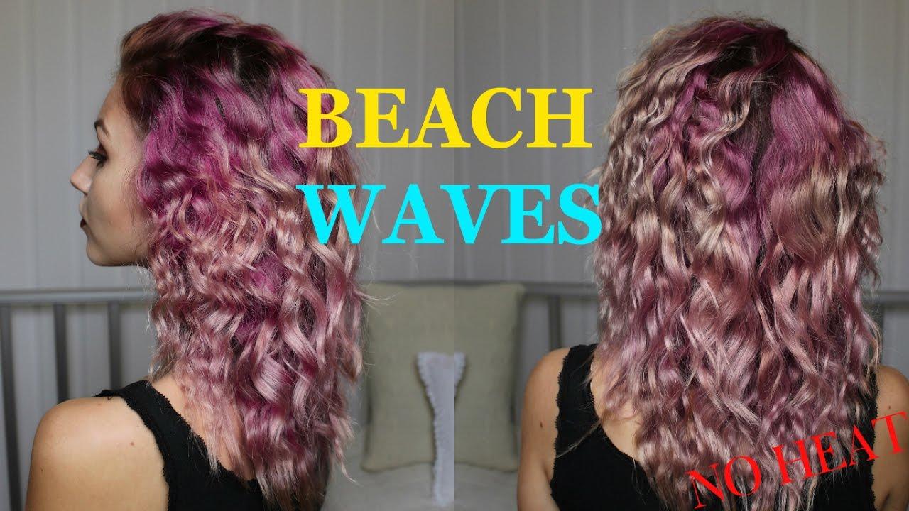 how to get beach waves without heat youtube
