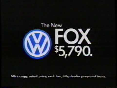 1987 VW Fox and VW Jetta TV Commercial