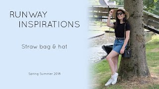 Straw bag and hat trend