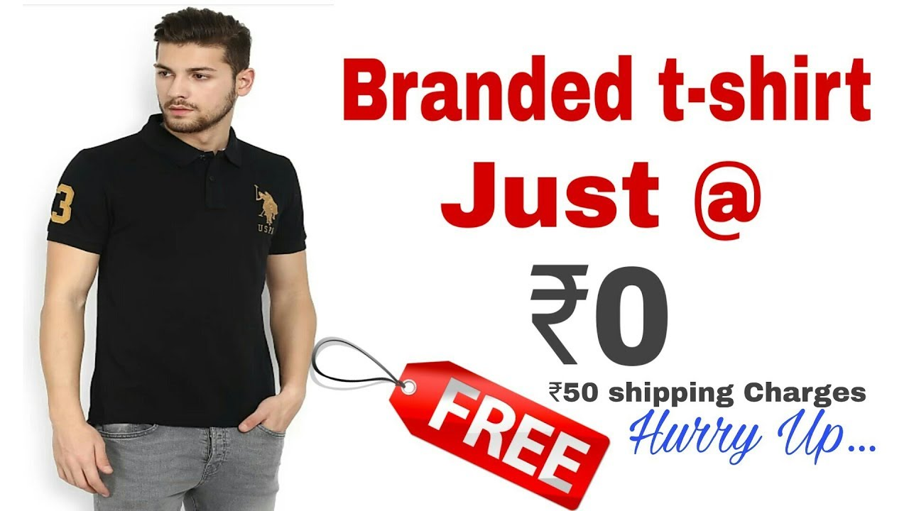 d3101f784abf Get ₹250 t-shirt absolutely free !! How to get free product – Shopping time