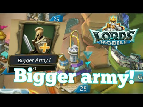 Lords-Mobile | BIGGER ARMY AND OPENING A BUNCH OF CHEST!