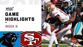 Panthers vs. 49ers Week 8 Highlights | NFL 2019