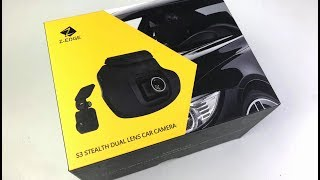 Dashcam REVIEW  Z-Edge S3 Stealth (Front & Rear Dual 1080p)