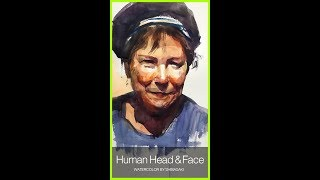 [ Eng sub ] Human Head & Face  Watercolor Painting Easy Tutorial 水彩で人物の頭部を簡単に描くコツ 初心者講座