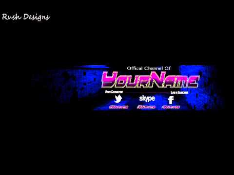 Free Youtube Banner Template PSD #1 - YouTube