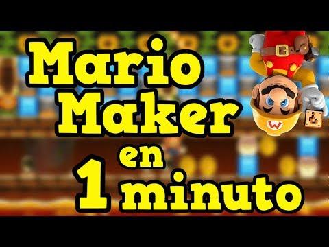 Super Mario Maker en *1 Minuto* [Español] David Nez