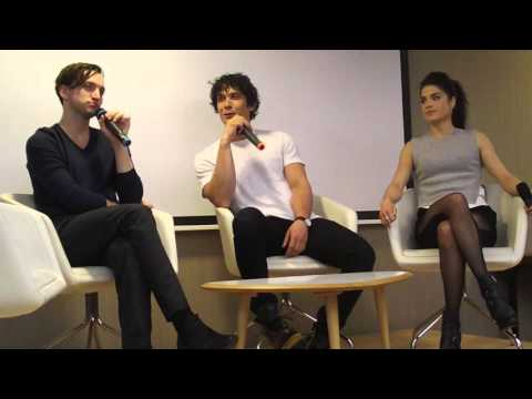 Murphamy love & Favorite lines   Richard Harmon, Bob Morley & Marie Avgeropoulos