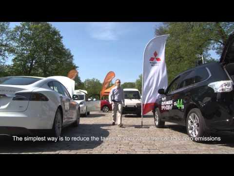 Sähköautojen kokoontumisajot Turussa 2014 - eCars Drive in Turku, Finland
