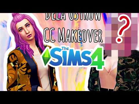 The Sims 4: Dela Ostrow Makeover + CC Links included - YouTube