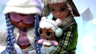 lol OMG doll unboxing Snowlicious Fashion Doll & Sister Winter Disco