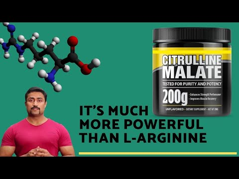 A PRE WORKOUT MUCH MORE POWERFUL THAN L-ARGININE - CITRULLINE MALATE