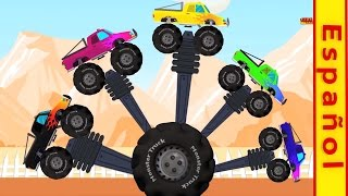 camión monstruo | Dedo de la familia | Vehículos para niños