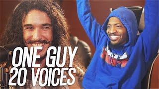 One Guy, 20 Voices (Michael Jackson, Post Malone, Roomie & MORE)(REACTION!!!)