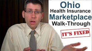 Ohio Health Insurance Marketplace Walk-through: It's Fixed