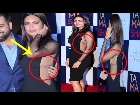 Launching Event || Gorgous Esha Gupta  Looking Bold In Black Dress Which Was Reveling Her Tattoo thumbnail