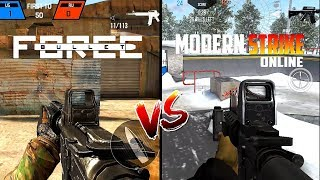 Bullet Force VS Modern Strike Online Comparison. Which one is best?