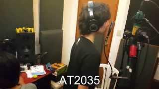 mic comparison vocal at2035 shure pga27 at2020 scarlett cm25 mxl v67