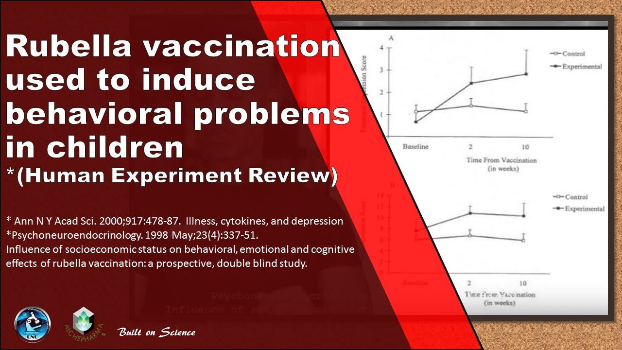 Rubella vaccination used to induce behavioral problems in