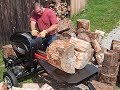 Extreme Fast Wood Cutting Machine Splitting Firewood, Homemade Firewood Processor With Chainsaw