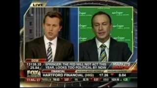 Keith Springer- Fox Business News 8-10-12 - Bernanke To Save Qe3 If We Go Over Fiscal Cliff?