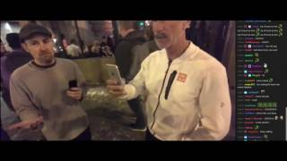 Andy meets a  MEAN old drunk hater